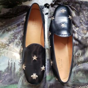 9b5993f99 Gucci Shoes   Quentin Nero Star Leather Loafers Size 95   Poshmark